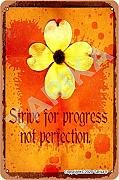 Strive for Progress Not Perfection - Targa