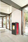 STUFA PELLET KING IDRO KW15 BORDEAUX PZ - 1