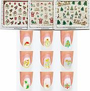 SwirlColor Adesivi Unghie Natale Gold Nail Art
