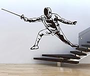 Swordsman Fencer Wall Stickers per Adesivi Murali