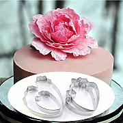Tagliabiscotti 4Pcs / Set Peony Flower Set 3D Cake