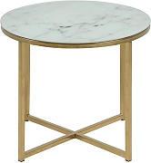 Festnight Tavolino da Giardino,Tavolino da Salotto,Tavolino Laterale Salotto Metallico Design Moderno,Tavolino da caff/è Salotto Rotondo Allumiio Design Moderno 55 x 76 cm