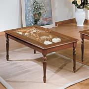 Tavolo Salotto con Ripiano SOULONG Tavolino da caff/è 90 x 45 x 43 cm Bianco Tavolini da caff/è Vetro Tavolino da Salotto Moderno