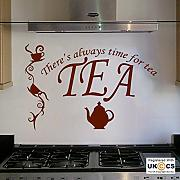 Tea Time Quote Teiera Cup CaféCucina di arte