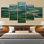 Tela Decor Wall Art Quadro Quadro 5 Pezzi Verde