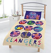 The Clangers Set Copripiumino, Multicolore, per