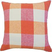 The Pillow Collection Amory plaid cuscino, rosa