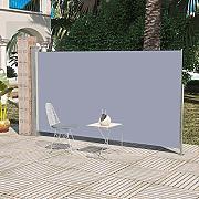 Tidyard Tenda da Sole Laterale Retrattile,Tende a Pannello,Tende da Veranda da Giardino,Tende a Rullo,Vele Parasole da Giardino 120 x 300 cm Blu