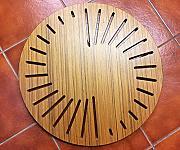 Nuovo in legno massello di teak doccia tappetino da bagno