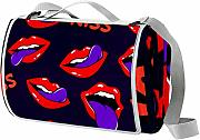 TIZORAX Lips With Kiss Coperta da picnic