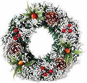 1.8M Ghirlanda di Natale Ghirlande decorate con pino verde artificiale con bacche rosse Pigne Fiori di juta Fiocco Palline per scale Caminetti Albero di Natale Giardino Decorazione festa di Natale