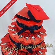 TORTA BOMBONIERA per laurea porta confetti con aca4441e6c6e