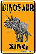 Triceratops Xing Vintage Look Ferro 20,5 x 30,5 cm
