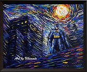 Uhomate Batman supereroe VINCENT Van Gogh Starry