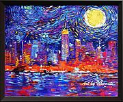 Uhomate New York City NYC skyline VINCENT Van Gogh