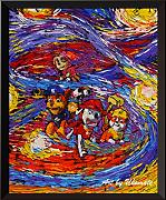 Uhomate Paw Patrol Wall Decor VINCENT Van Gogh