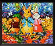 Uhomate Peter Rabbit Decor VINCENT Van Gogh Starry
