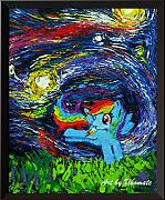 Uhomate Rrainbow Dash Wall Decor VINCENT Van Gogh