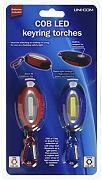 Uni-Com, 2 torce portachiavi COB LED, multicolore