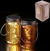 Vaso decorativo a LED luminoso - Metallico