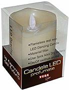 Vega Home Candela LED in Cera Naturale Profumata,