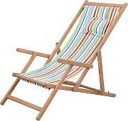 Kubi Sport in legno di faggio colore: nero Sedia a sdraio da giardino pieghevole