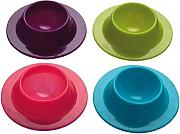Vikenner 4pcs silicone Egg portabicchieri Serving