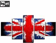 Wall art for living room the Union Flag Bandiera
