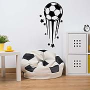 Wall Stickers Cartoon Stars Football Adesivo Da