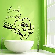 Wall Stickers Denti Denti Adesivo Dentista Decal