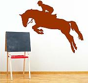 Wall Stickers Horse Jumping Sports Home Decor