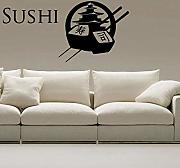 Wall Stickers Sushi Decal Restaurant Poster Poster