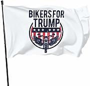 wallxxj Bandiera da Giardino Bikers for Trump