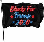 wallxxj Bandiera da Giardino Blacks for Trump 2020