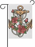 wallxxj Giardino Bandiera Rose Anchor with Ropes