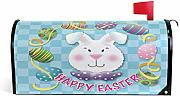 Wamika Happy Easter Bunny Magnetic Mailbox Cover