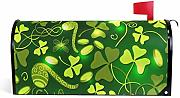Wamika Patrick Day Clover Leaves Magnetic Mailbox