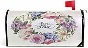 Wamika Roses Watercolor Magnetic Mailbox Cover