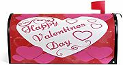 Wamika Valentine Heart Love Magnetic Mailbox Cover