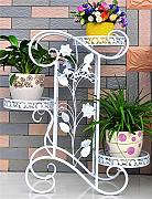 WENZHE Porta-piante Ferro Piano 3-tier Flower Pot