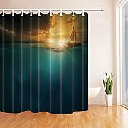 WGEMXC Tenda da bagno bagno, Moonlight Horror