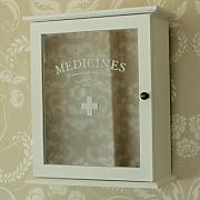 White Mirrored 'Medicines' wall Cabine