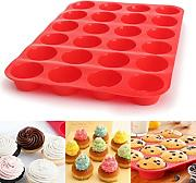 Winkey cake Mould ,24 cavity mini muffin silicone