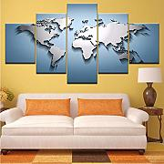 Wiwhy Globe World Map Vintage Puzzle Astratto