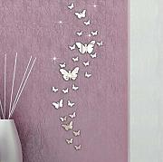 Wjbky 30Pc Butterfly Combination Adesivi Murali