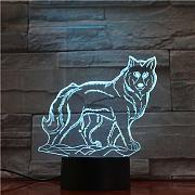 Wolf Animal 3D Lampada USB Night Light LED RGB
