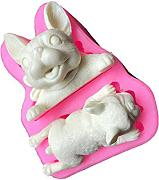 wonderfulwu Stampo in Silicone 3D Sapone Dog Mold