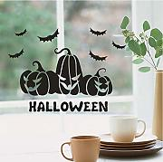 Wuyyii Felice Halloween Bat Wall Sticker Finestra