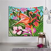 WYQLZ Nordic Flamingos Sofà Asciugamano Wall Wallpaper Tappezzeria Tappeto decorativo Wall Wall Wall Art Wallpaper ( dimensioni : 150*130cm )