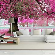 Xbwy 3D Wall Murals Wallpaper Paesaggio Cherry